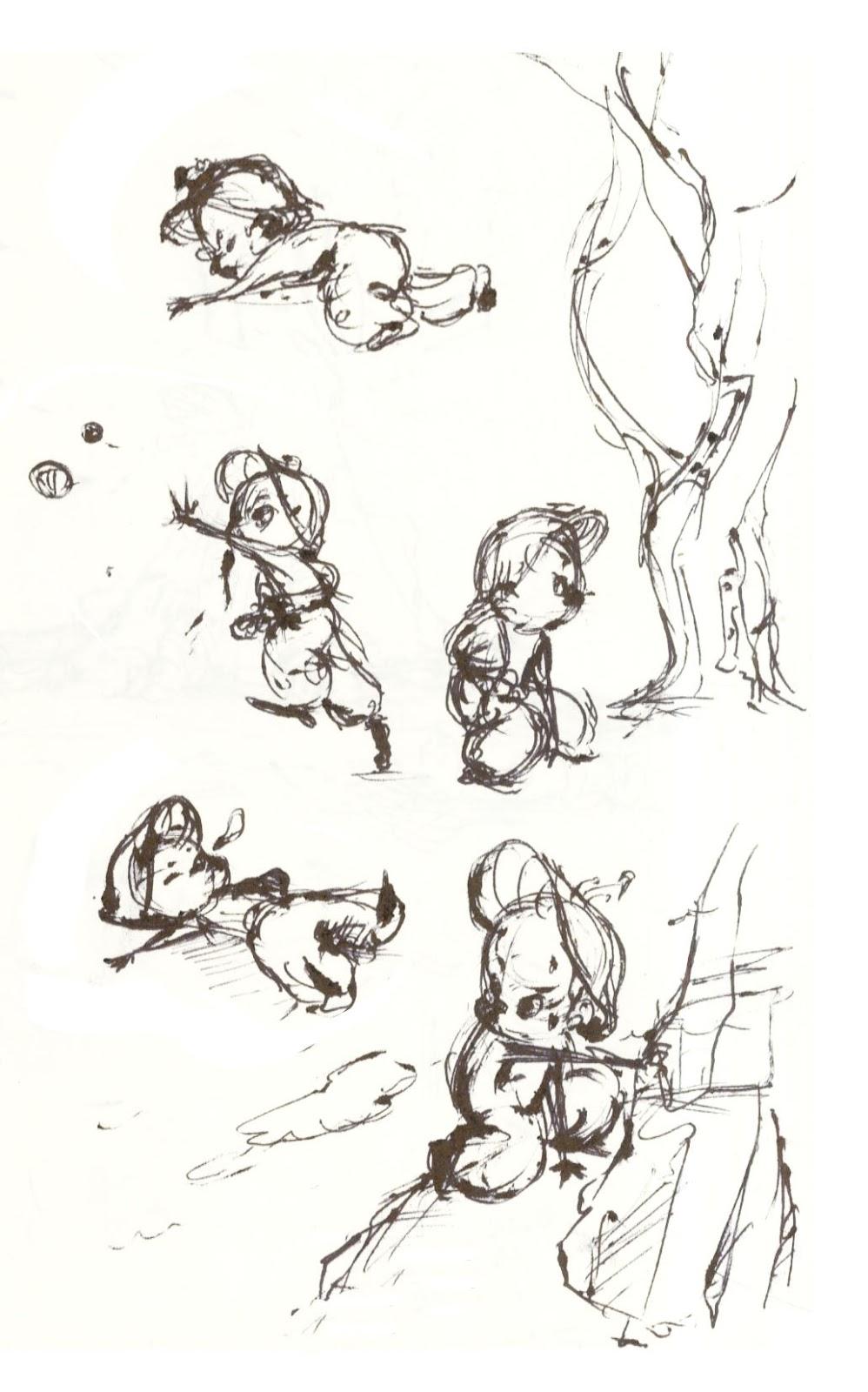Calarts Character Design Portfolio : Takehiro nishikawa portfolio film progression character