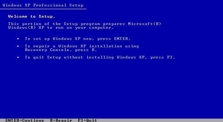 windows xp format cd free