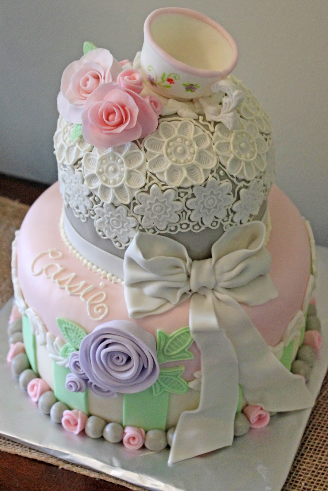 Layers Of Love Vintage Tea Party Cake