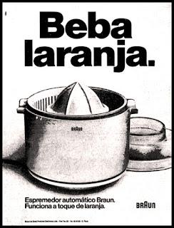 propaganda espremedor de laranja Braun - 1978; os anos 70; propaganda na década de 70; Brazil in the 70s, história anos 70; Oswaldo Hernandez;