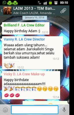 Ucapan ulang Tahun Adam Azkiya di Whatsapp