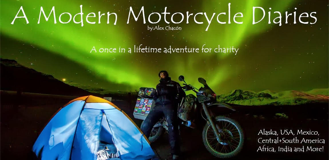Alex's Motorcycle Adventure Alaska, Mexico, Central + South America!