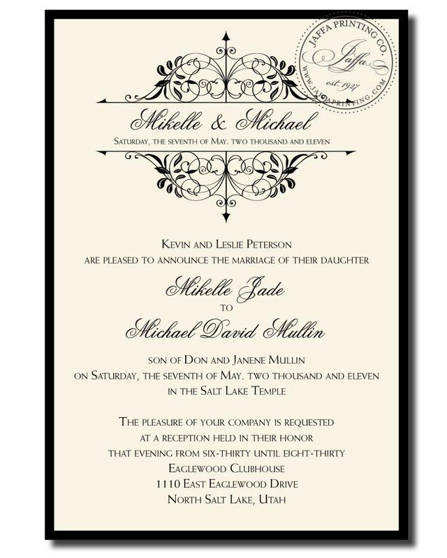 Wedding Invitation Blog: Classy Vintage Wedding Invitation