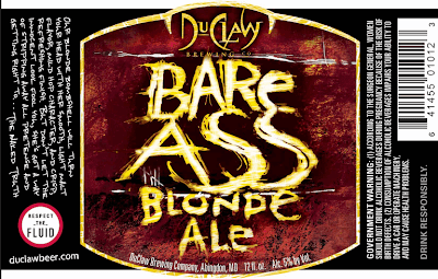 DuClaw Bare Ass Blonde Label Design