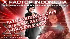 Fatin Shidqia Lubis Juara The X Factor Indonesia