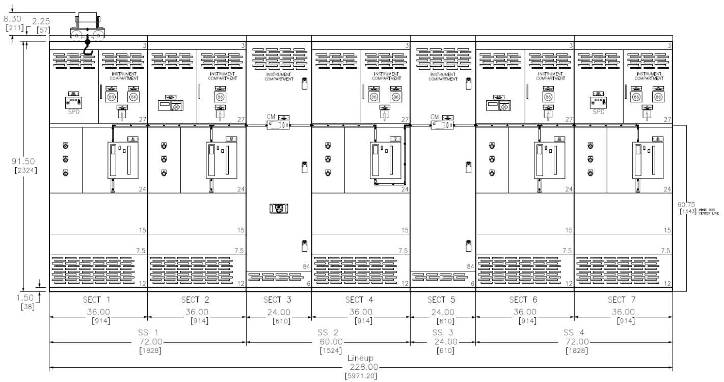 Irgrid Schneider Square D Qed 2 Switchboard 7 Cabinets Water Wiring Diagram Can Provide Full Specifications Upon Request 12mb Pdf