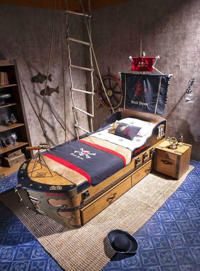 Desain kamar tidur anak gaya kapten kapal laut