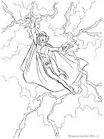 Gambar Mewarnai Storm Mengendalikan Angin Dan Awan