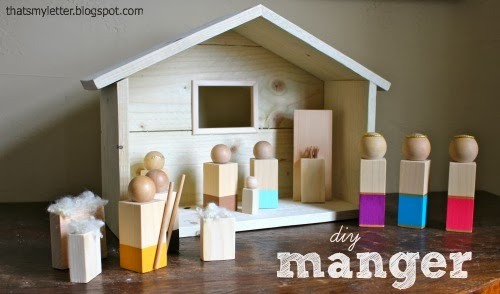 diy manger & figures