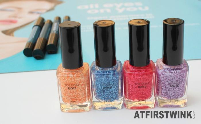 HEMA Top coat - Dots nail polishes