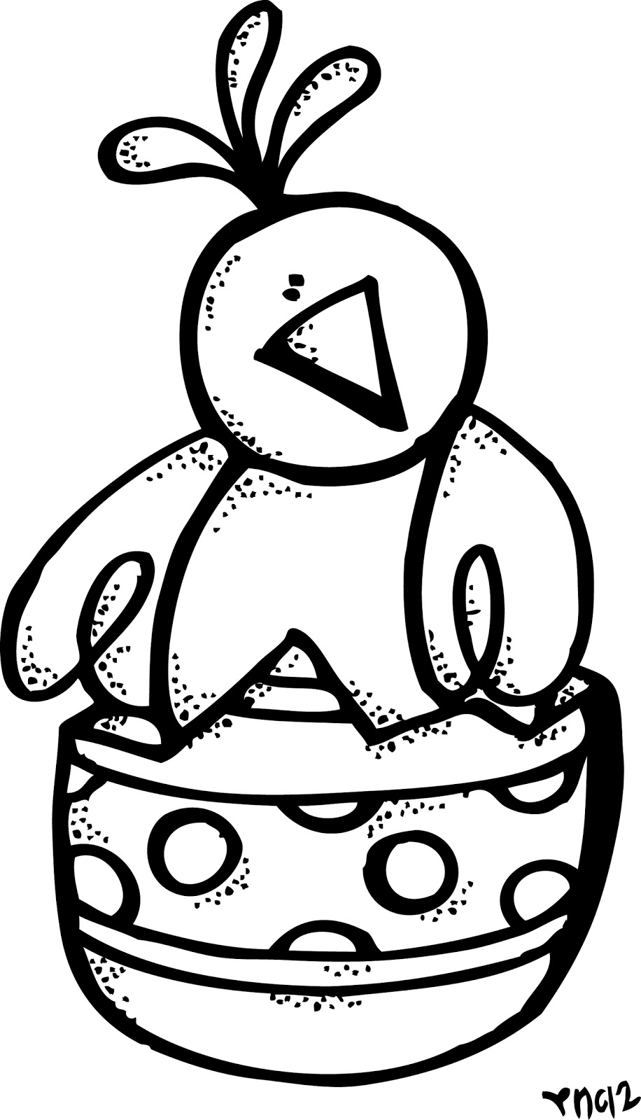 easter clip art coloring pages - photo #24
