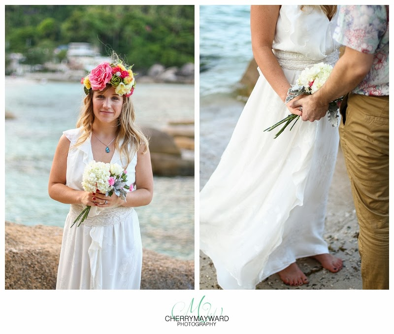 beautiful thailand bride holding flowers, beautiful Koh Samui bride, bride holding flowers, Koh Samui beach wedding photos,