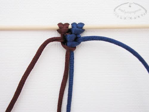 Podwójny węzeł łańcuszkowy wykonywany na 4 sznurkach - 7