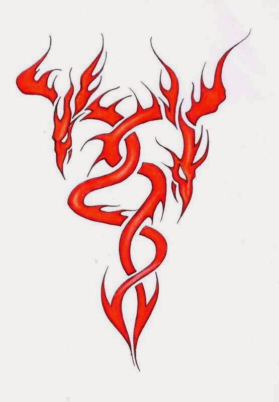 Flaming Dragon Tattoo