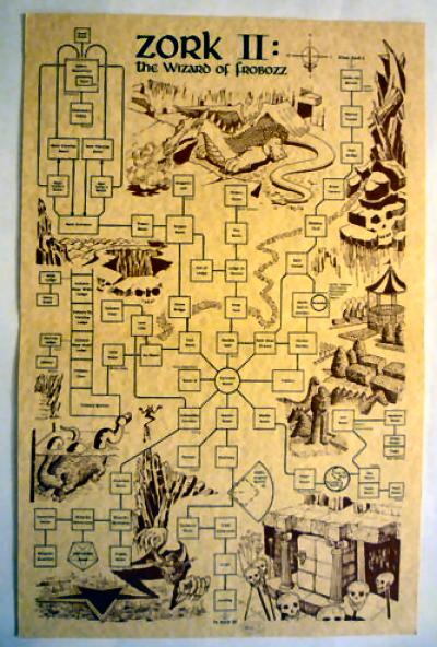 Retro Treasures: Zork II Dungeon Guide Map on