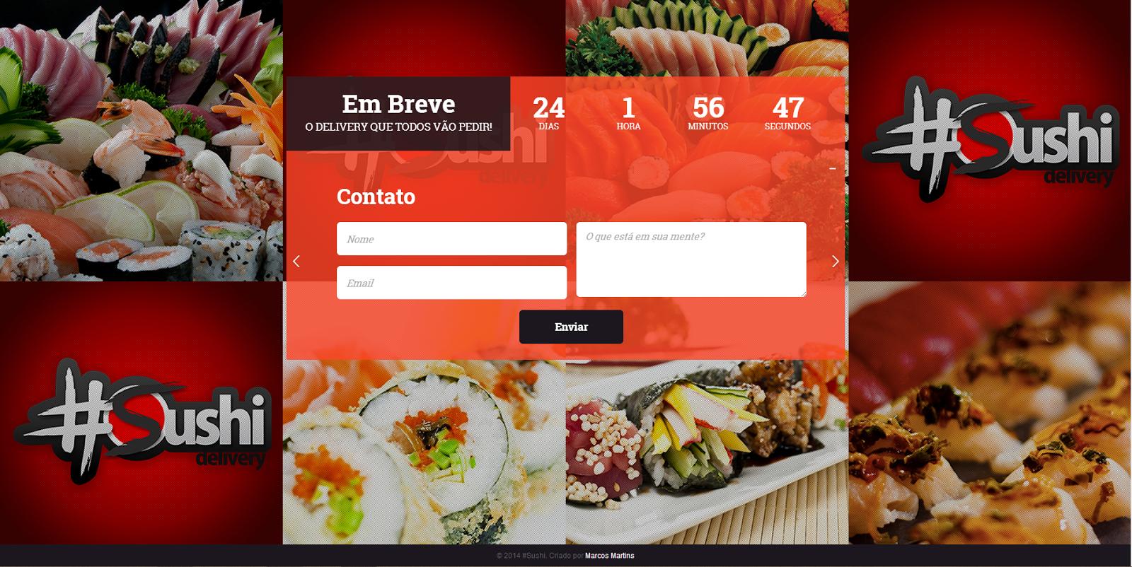 Identidade Visual e Web site para Delivery Japonês