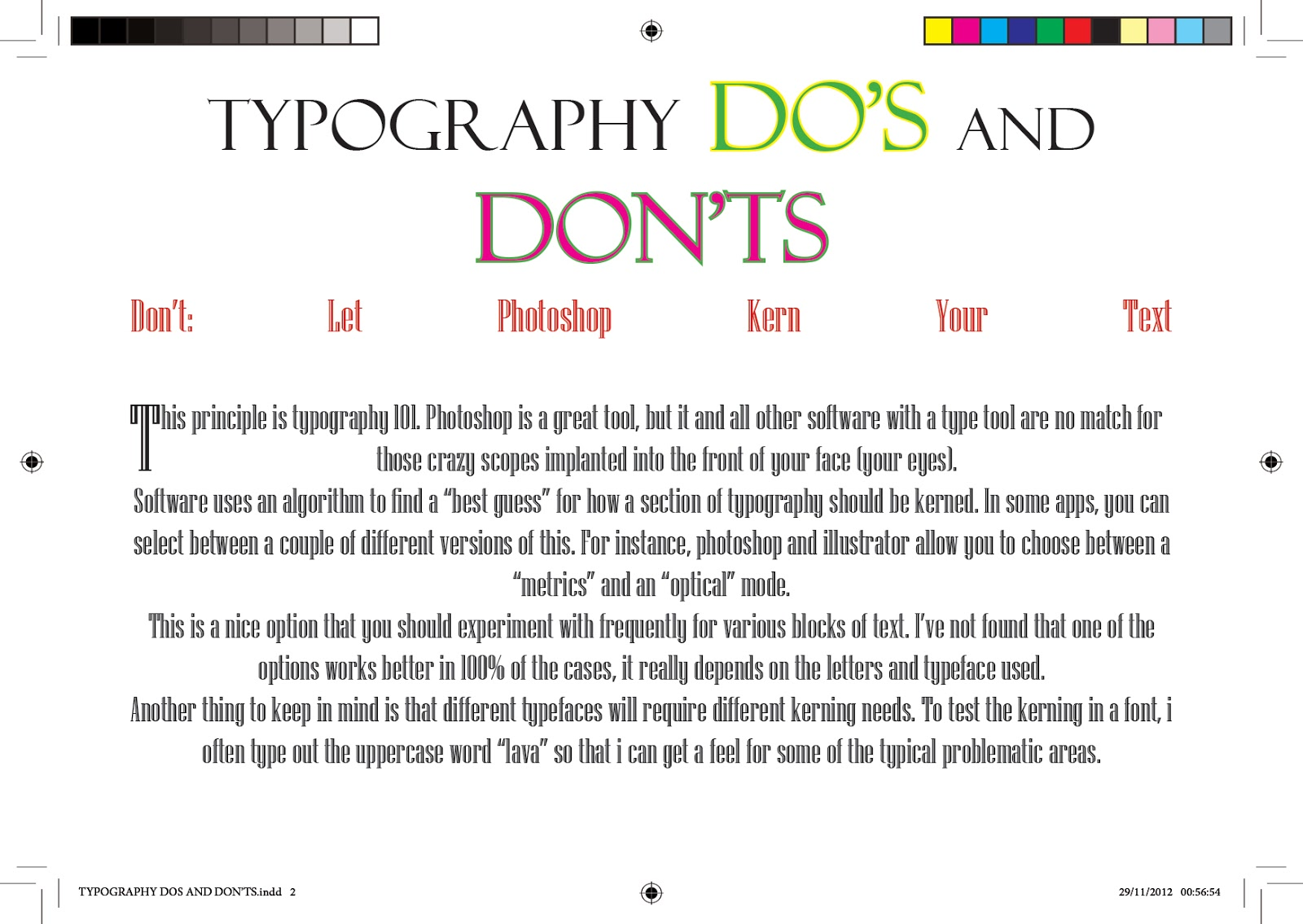 TYPOGRAPHY DO's AND DONT's TIPS