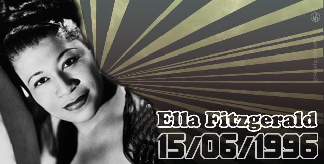 1996: fallece Ella Fitzgerald, cantante.