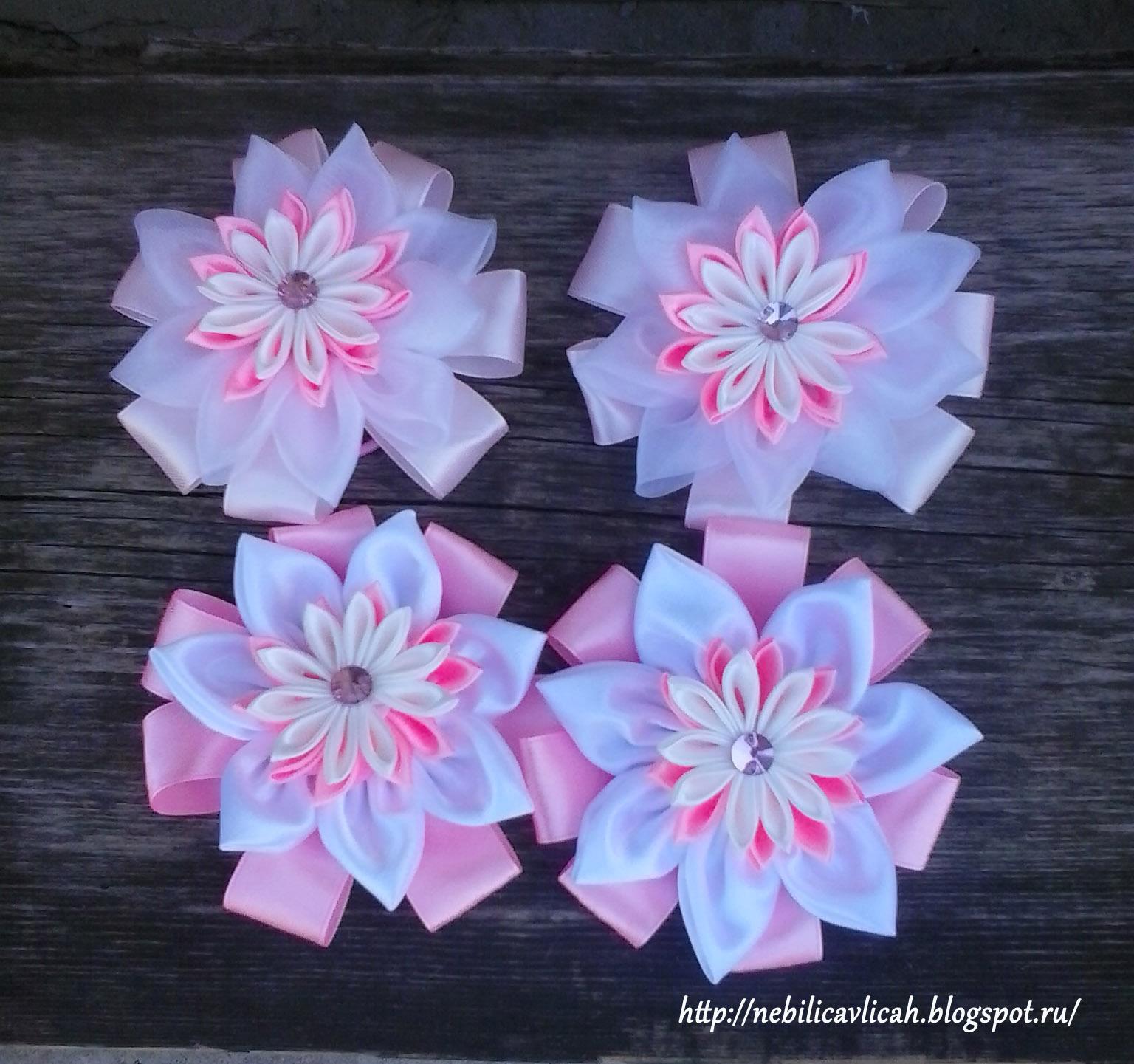 Цветы из лент своими руками на 1 сентября 21