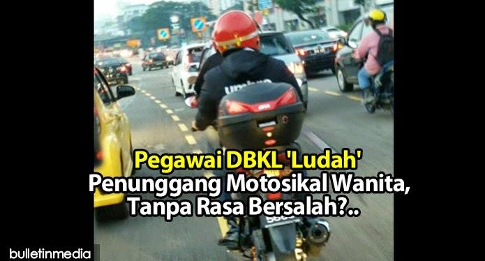Pegawai DBKL 'Ludah' Penunggang Motosikal Wanita, Tanpa Rasa Bersalah?..