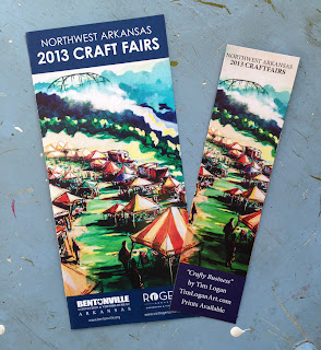 Northwest Arkansas Craft Fair Brochure Art by Tim Logan