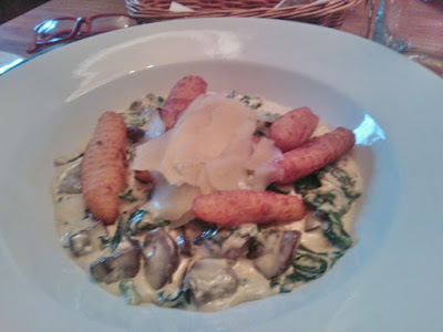 Gnocchi with creamy sauce