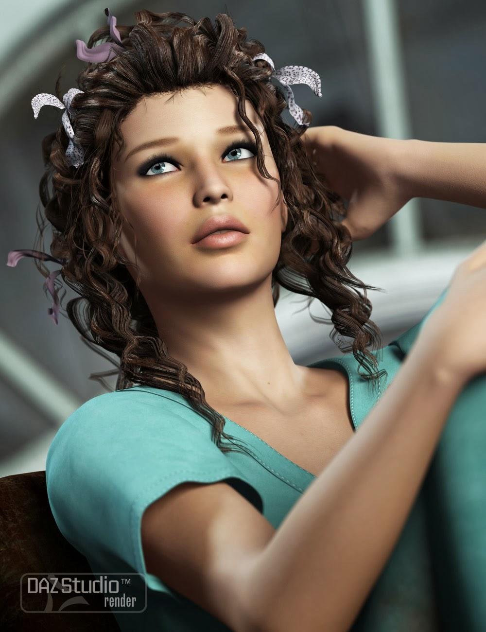 Cheveux fous serrures Femme