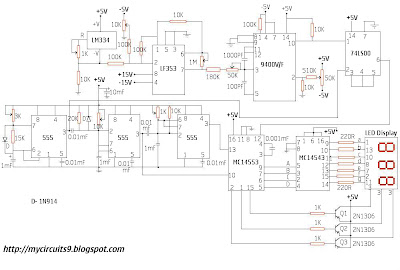 circuit diagram digital temperature indicator
