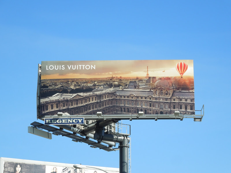 Louis Vuitton hot air balloon billboard