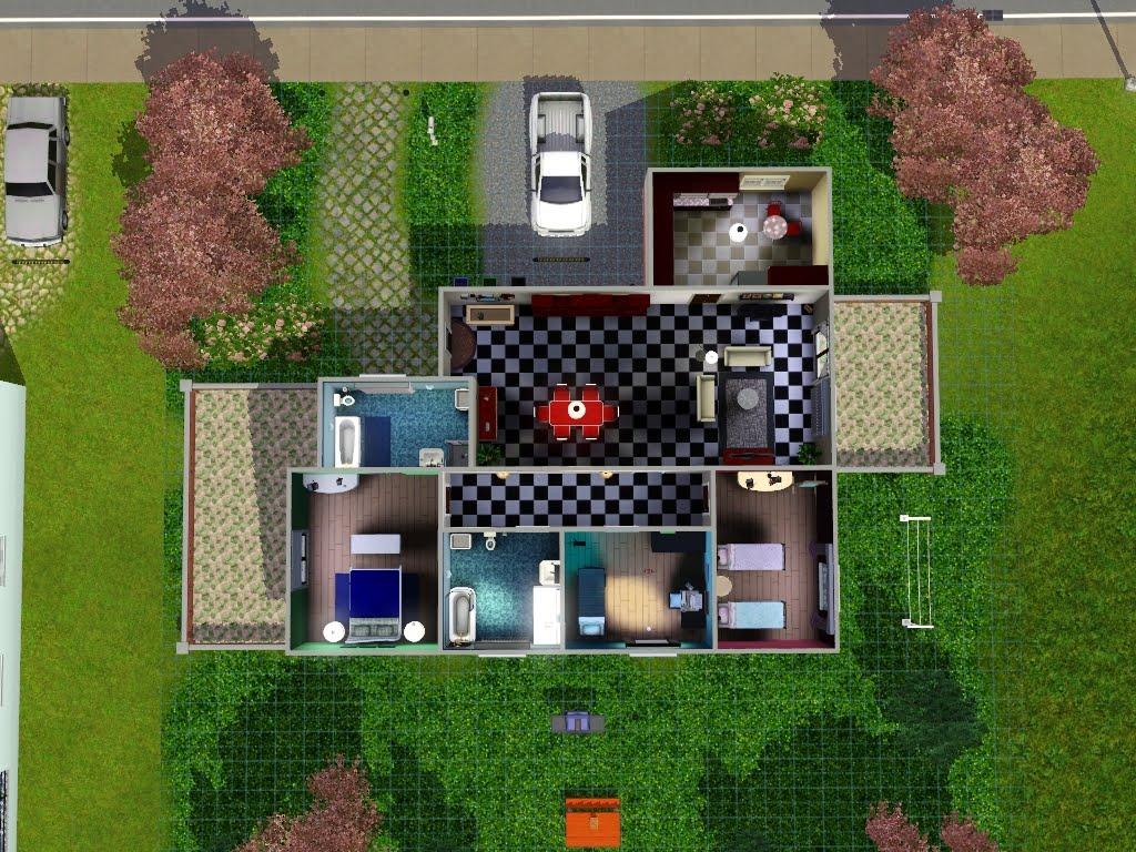 Kiki koy 4 the sims la casa col tetto rosso for Case the sims 3 arredate