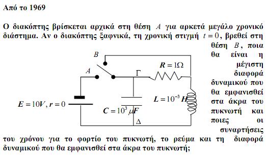 Μια ενδιαφέρουσα ηλεκτρική ταλάντωση