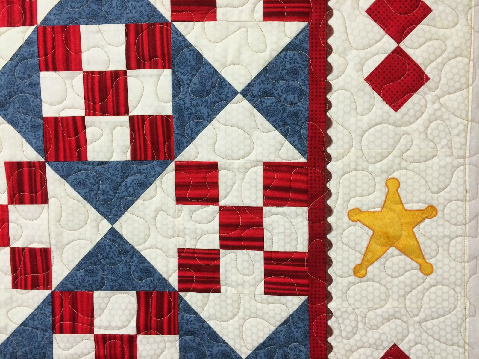 Mette Brown Cowboy Baby Quilt