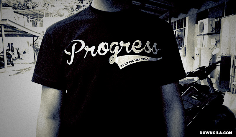 progress najib for malaysia tshirt