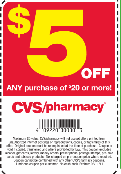 Cvs Pharmacy Coupons >> The Centsible Couponer Cvs 5 Off 20 Purchase Coupon