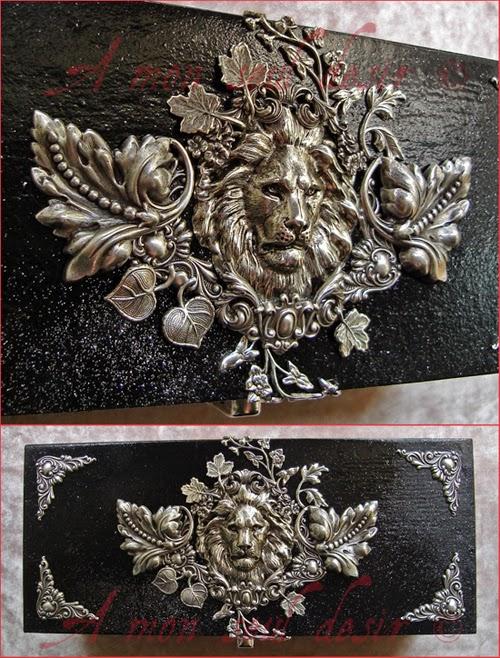 Lion Boite à Bijoux Argent Médiéval Coffret Jewellery Box Medieval Renaissance