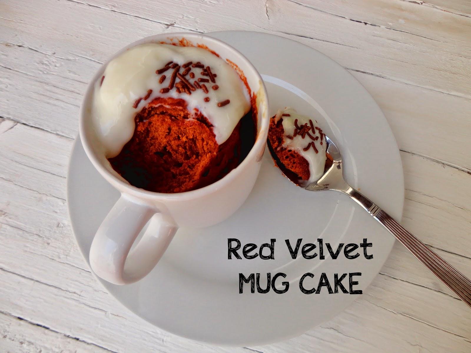 Red Velvet Mug Cake Using Cake Mix