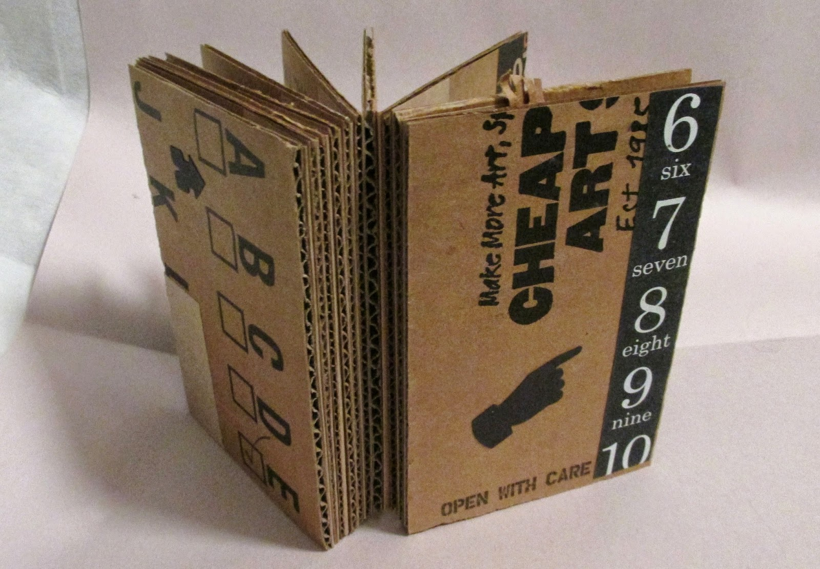 How To Make A Book Cover Out Of Cardboard : Art kerfuffle cheap