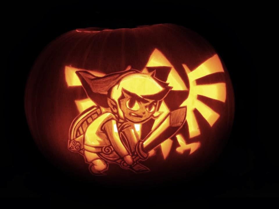 The gallery for gt zelda triforce pumpkin stencil