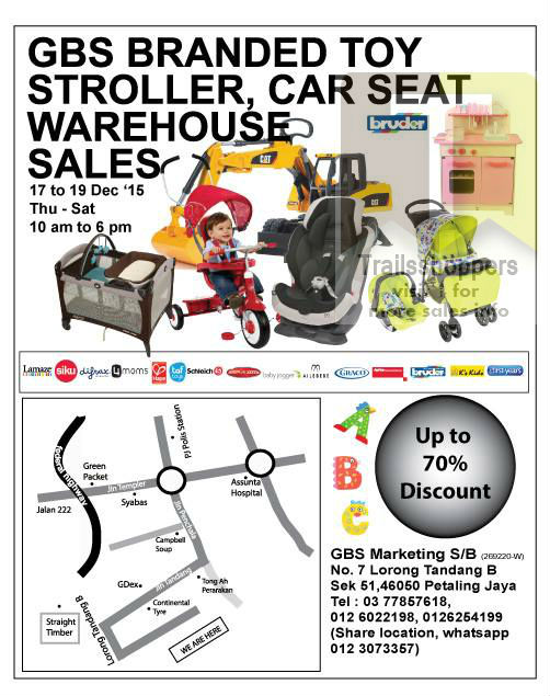 GBS Branded Toy Stroller Car Seat Warehouse Sale