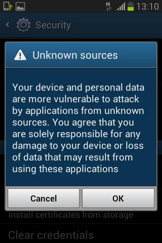 Cara menginstall aplikasi yang di block Android 2