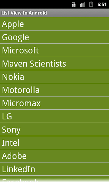 List View in android - Maven Scientists