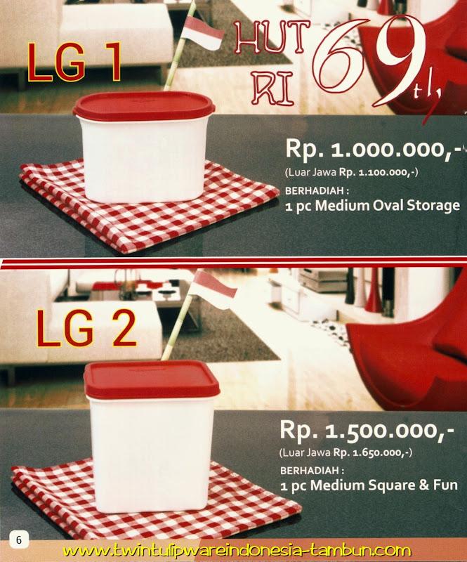Level Gift - LG Tulipware Tupperware Juli - Agustus 2014