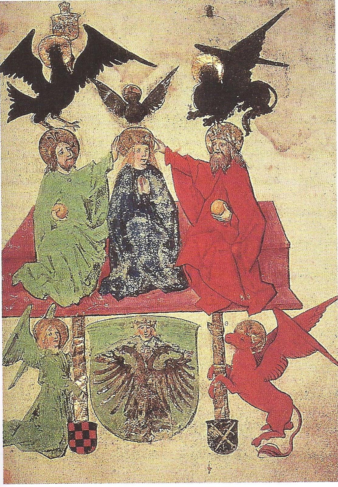 Marie, mère du Christ - Page 2 Le+Livre+de+la+Sainte+Trinit%C3%A9+-+D%C3%A9but+XV%C2%B0+si%C3%A8cle+-+3