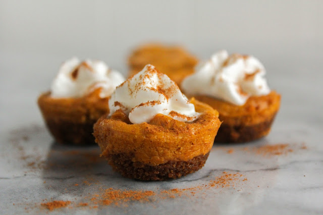 Mini Pumpkin Almond Cheesecakes | The Chef Next Door