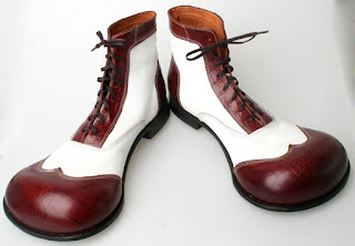 Time to hang up the shoes shoes... Clown shoes