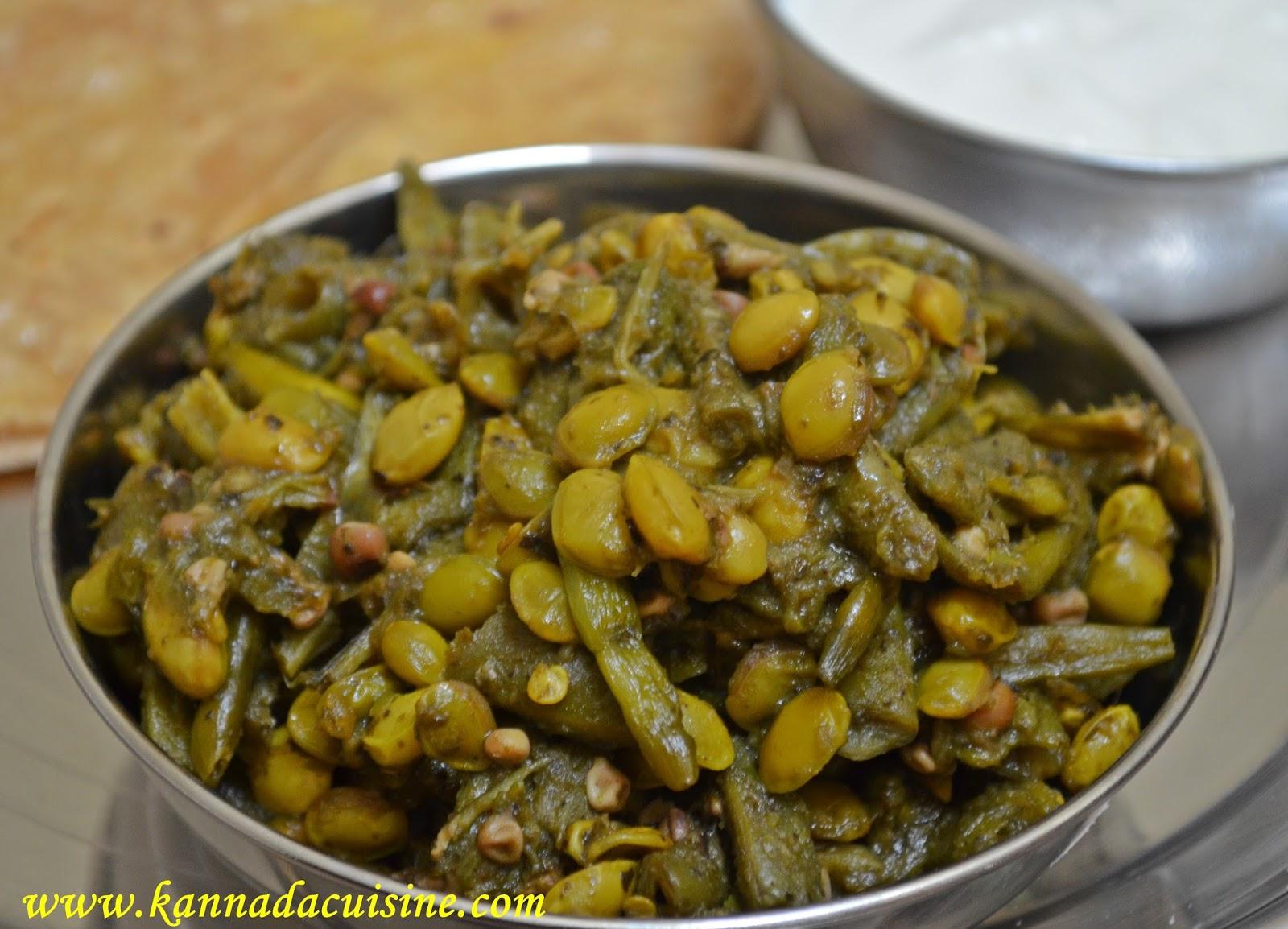 Kannada cuisine tender green vegetables in green masala forumfinder Choice Image