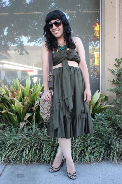 Olive Green DVF Dress