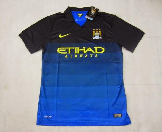 Manchester City 14-15 Away Soccer Jersey