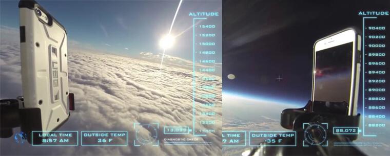 شاهد اختبار سقوط هاتف آيفون 6 من.. الفضاء! (لأول مرة على الإطلاق)