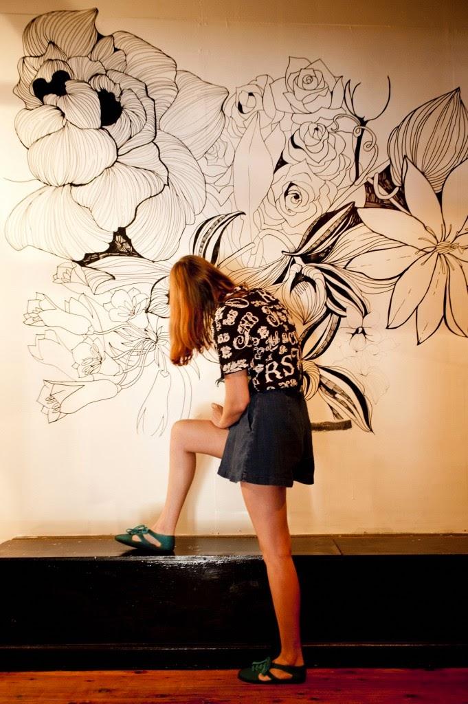 Ilustraciones en la pared for Como dibujar un mural en la pared